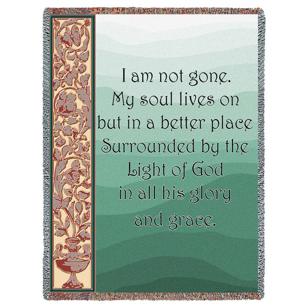 My Soul Lives On (Memorial) Tapestry Throw