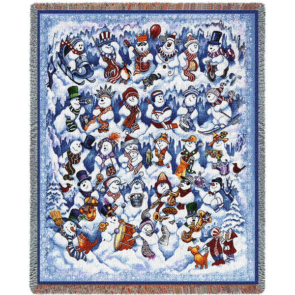 Snowfolks (Holidays) Tapestry Throw
