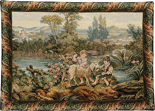 Children By the Lake Tapestry Wall Hanging