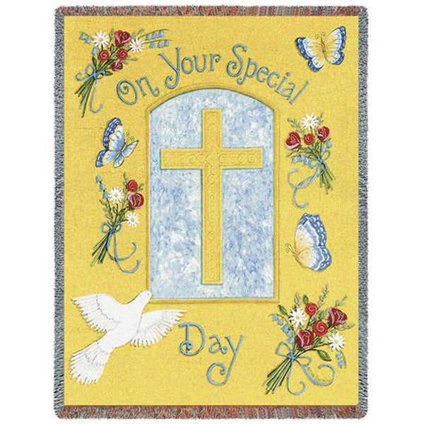 On Your Special Day (Religious) Tapestry Throw