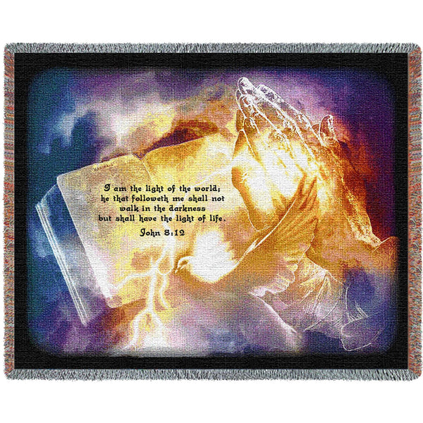 Light of the World (Religious) Tapestry Throw