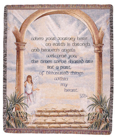 The Journey (Words of Wisdom) Tapestry Throw