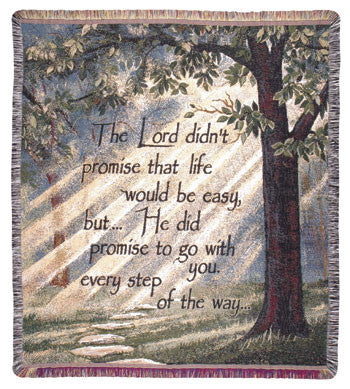 Every Step (Words of Wisdom) Tapestry Throw