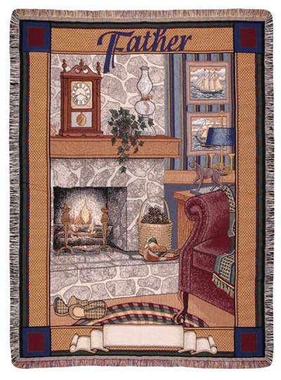Father (Words of Wisdom) Tapestry Throw