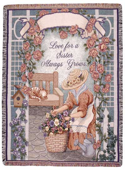 Sister (Words of Wisdom) Tapestry Throw