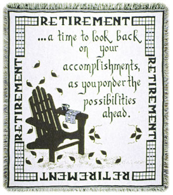 Retirement Words of Wisdom Tapestry Throw
