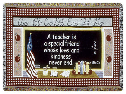 Teacher (Gift to Remember) Tapestry Throw
