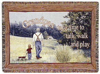 Grandpa (Gift to Remember) Tapestry Throw
