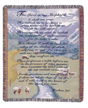 23rd Psalm Gift to Remember Tapestry Throw