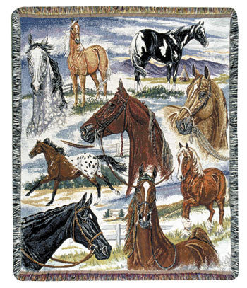 Horse Sense (Animal Friends) Tapestry Throw
