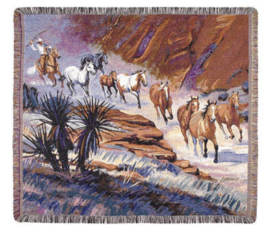 Coming Through the Canyon I Tapestry Throw