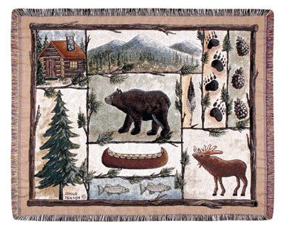 Cabin Fever (Outdoor Retreat) Tapestry Throw