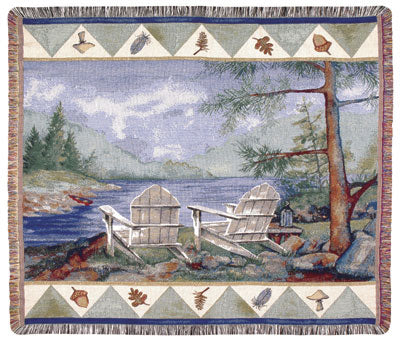 Lakeside (Outdoor Retreat) Tapestry Throw
