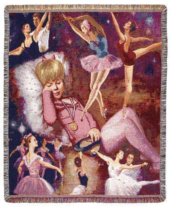 Ballerina Dreams (Babies n More) Tapestry Throw