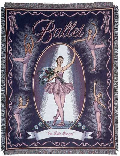 Ballet (Dance) Tapestry Throw