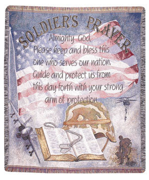 Soldiers Prayer (Profession) Tapestry Throw