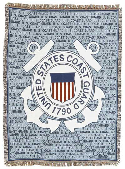 Coast Guard (Profession) Tapestry Throw