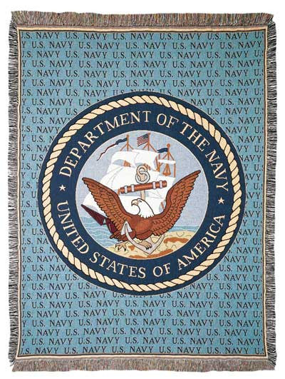 Navy (Profession) Tapestry Throw