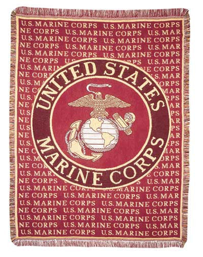 Marines (Profession) Tapestry Throw