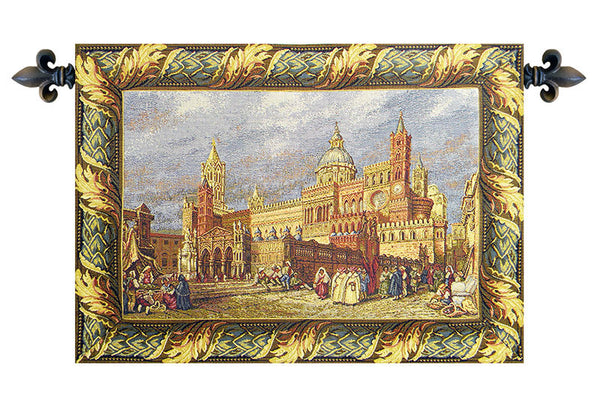 Palermo, The Cathedral Italian Tapestry Wallhanging