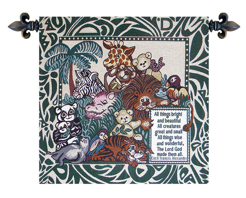 All Creatures Great and Small Italian Tapestry Wall Hanging