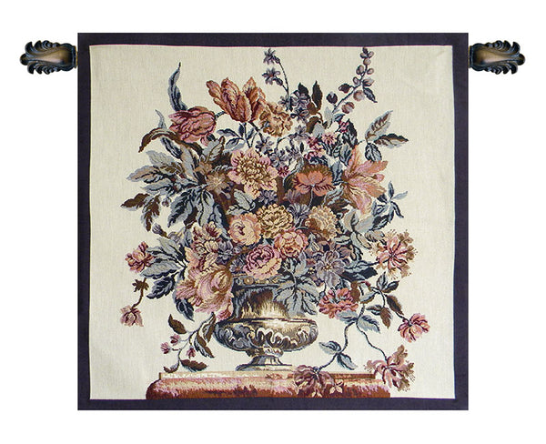 Flower Vase Italian Tapestry Wallhanging
