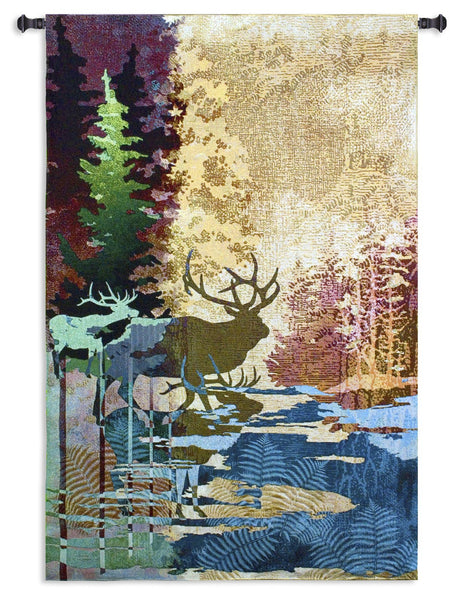 Ghosts of the Tall Timber Tapestry Wall Hanging