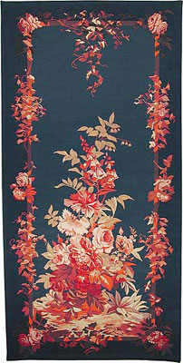 Portiere Romantique Blue European Wallhanging