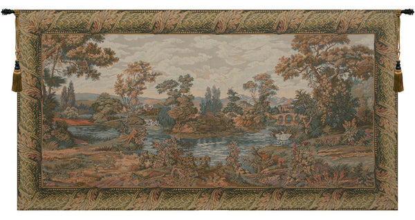 Swan in the Lake Italian Tapestry Wallhanging
