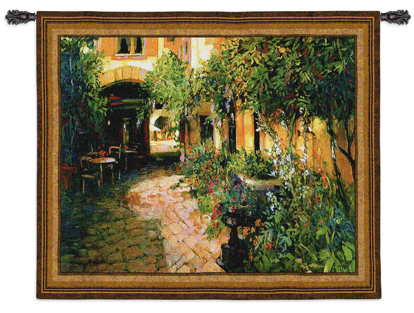 Courtyard Alsace Tapestry Wall Hanging