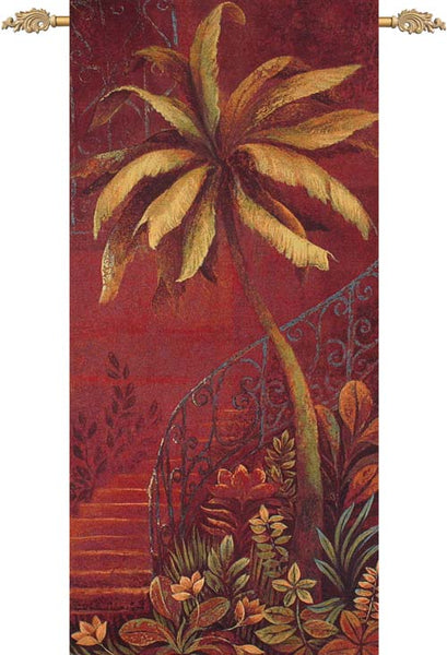 Palm Courtyard II Tapestry Wall Hanging