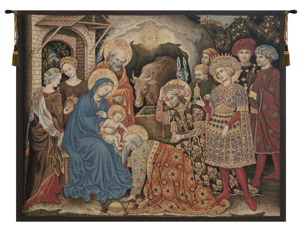 Adoration Palla Strozzi Italian Tapestry Wall Hanging