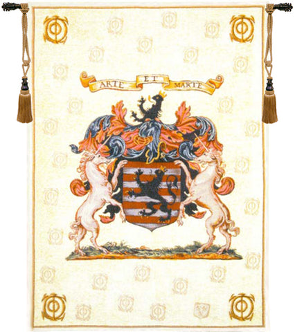Crest & Coat of Arm Tapestry
