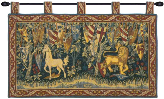 Lion et Licorne Heraldiques Wall Hanging