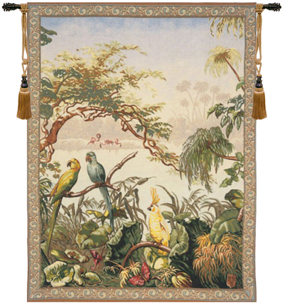 Oiseaux Exotique Exotic Birds Wall Hanging