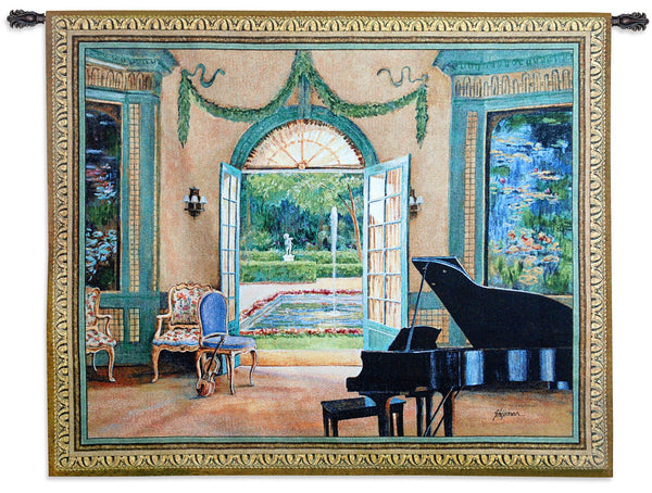 The Music Room Monet Tapestry Wall Hanging