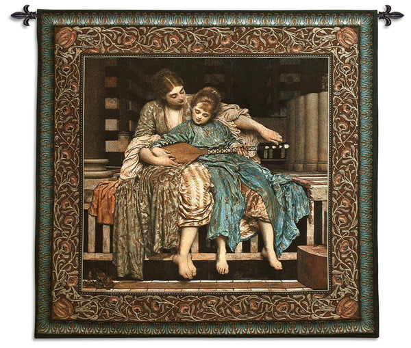 The Music Lesson - Old World Tapestry Wall Hanging