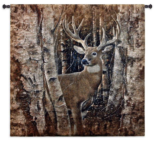 Birchwood Buck _ Lodge Tapestry Wall Hanging