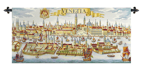 Venice Ancient Map Italian Tapestry Wallhanging