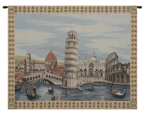 Monuments Italy Italian Tapestry Wallhanging