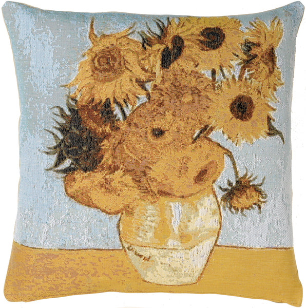 Sunflowers by Van Gogh French Tapestry Cushion