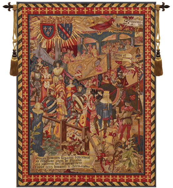 Le Tournai Vertical French Tapestry