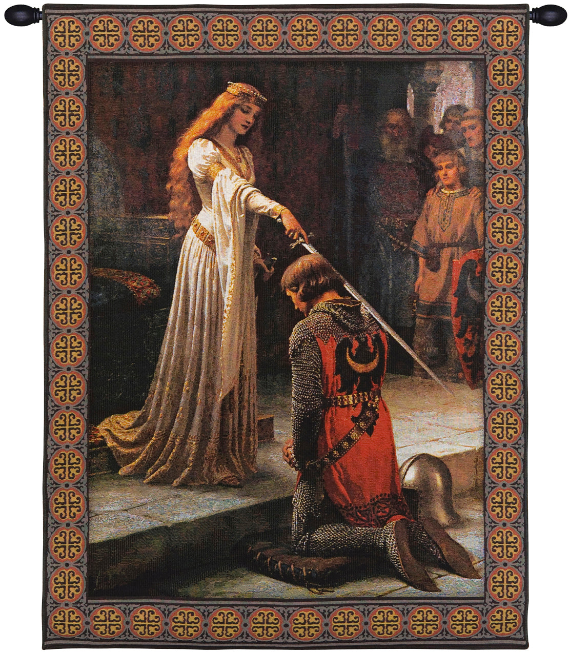 Accolade With Border Belgian Tapestry Wall Hanging