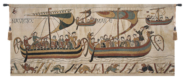 Bayeux Navigio Belgian Tapestry Wall Hanging