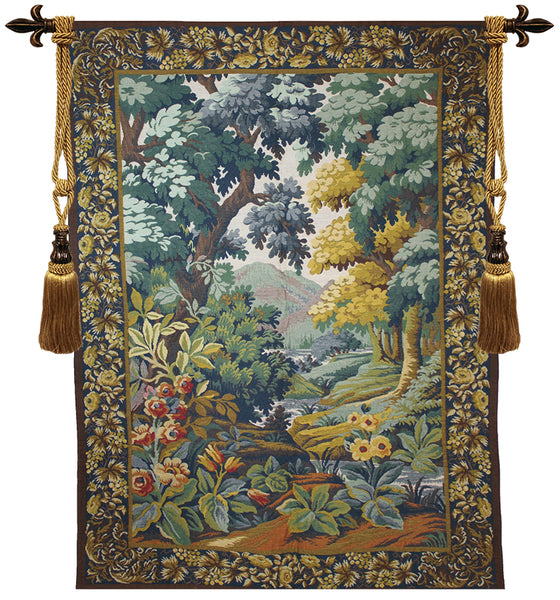 Landscape with Flowers European Wallhanging