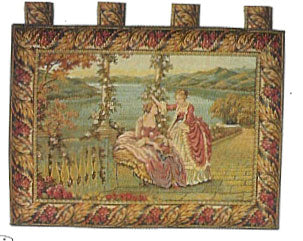 Ladies at the Terrace 2 Tapestry Wall Hanging