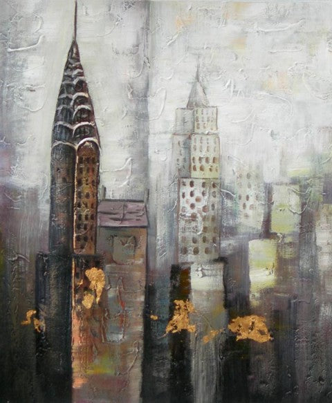 City in the Mist Oil Painting