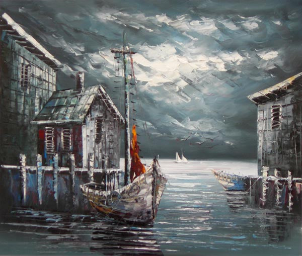 The Weathered Wharf Oil Painting