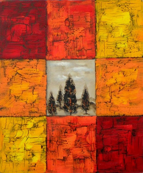 Tree Bark Oil Painting