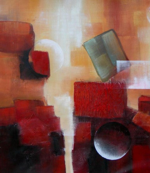 Blocks and Marbles Oil Painting